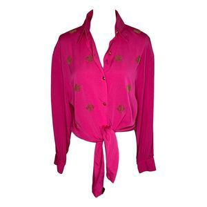 Rothschild for Lilli Ann Tie Front Blouse 8